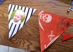Tutorial: How to Make a Birthday Pennant Banner out of paper