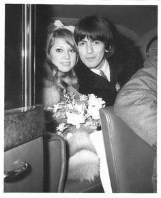 Pattie Boyd And George Harrison--Wedding Day