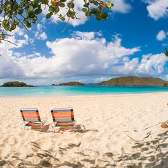 A serene waterside scene on Cinnamon Bay Beach, St. John, USVI Virgin Islands Vacation, Us Virgin Islands, Dream Vacations, Vacation Spots, Places To Travel, Places To See, Jacques Yves Cousteau, Beach Quotes, Ocean Quotes