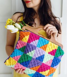 This amazing bag pattern by is inside issue 100 - inspired by her popular blanket design from issue Rosina updated… C2c Crochet, Crochet Bags, Crochet Magazine, All The Colors, Blanket Design, Pouch, Colours, Popular, Celebrities