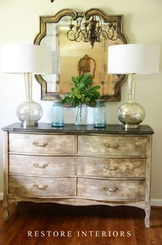 french dresser using crackle