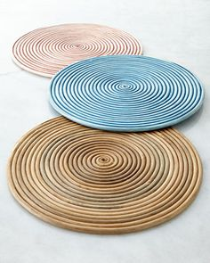 NM EXCLUSIVE Coiled Rattan Charger Plate - Horchow