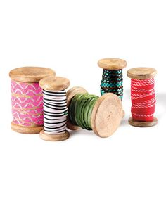 Look what I found on #zulily! Boho Ribbon Spool Set by Foreside #zulilyfinds
