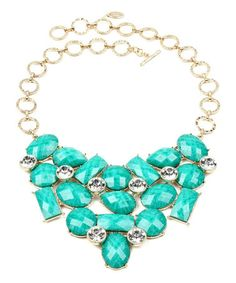 Another great find on #zulily! Turquoise East Hampton Bib Necklace by Amrita Singh #zulilyfinds