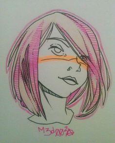 "40 curtidas, 0 comentários - Juan Marcelo 'Medusa' (@m3d00za) no Instagram: ""-Something - #m3d00za #draw #drawing #desenho #girl #alternative #alternativegirl #shorthair…"" Medusa, Alternative Girls, Drawing Reference, Character Inspiration, Book Art, Anime, Lettering, Instagram, Drawings"