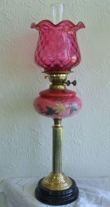 Antique English Victorian Oil Lamp.