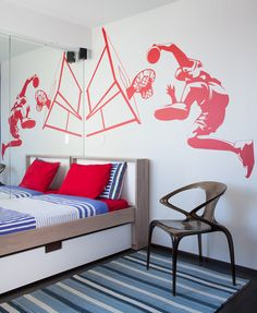 Cool Basketball Murals Painting for Teenager Boys Bedroom