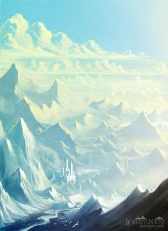 Fantasy Landscapes by Roberto Nieto http://www.cruzine.com/2013/09/26/fantasy-landscapes-roberto-nieto/
