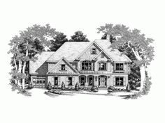 Eplans New American House Plan - Traditional Farmhouse with Contemporary Amenities - 3384 Square Feet and 5 Bedrooms from Eplans - House Plan Code HWEPL09367
