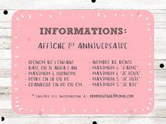 Affiche premier anniversaire personnalisée Licorne rose | Etsy