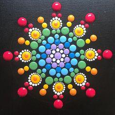 Photo by Mandala Art ~ ValsMandalas on November Rock Painting Patterns, Dot Art Painting, Rock Painting Designs, Pebble Painting, Pebble Art, Stone Painting, Mandala Art Lesson, Mandala Drawing, Mandala Painting