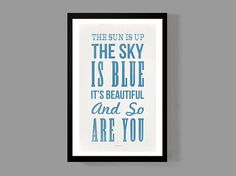 $18 The Beatles Custom Poster - The Sun is Up, The Sky is Blue, It's Beautiful, and…