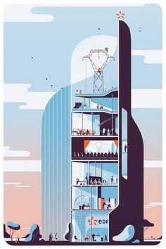 EDF by Tom Haugomat, via Behance