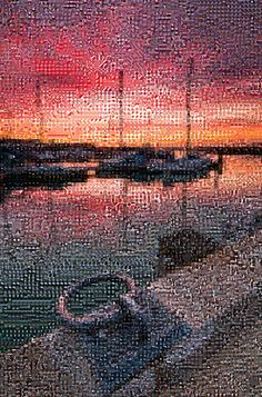 'Ride Harbour, Isle of Wight', a photo tile mosaic at TileArray