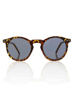 OMalley Round Tortoise Shades - Smoke