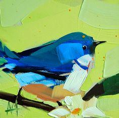 Cerulean Warbler no. 61 Painting