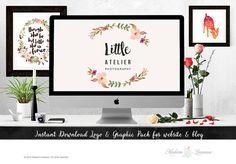 DIY Instant Download Logo Wordpress Website by TheParisWife