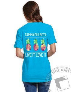 Gamma Phi Beta Pineapple Tee by ABD BlockBuy! Available until 9/8, $16-$23 Adam Block Design | Custom Greek Apparel & Sorority Clothes |www.adamblockdesign.com