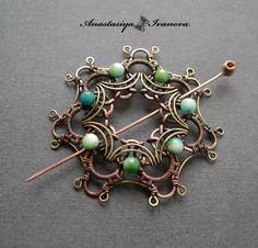 Beautiful wire brooch