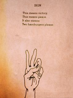 """""""It also means two hamburgers please!"""""""