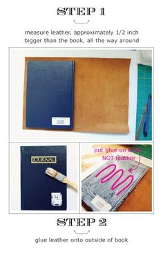 How to do a leather journal book..... It's very easy and looks very nice... I used a old leather coat.... .      @Tara Tacconi