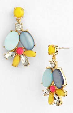 kate spade new york 'bungalow bouquet' cluster drop earrings available at #Nordstrom