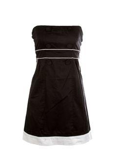 Colorblock Piping Tube Dress - Tops - New