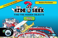 """Hide & Seek Discovery ($0.00) Hide & Seek Discovery, a free version that lets you discover the atmosphere of this hide-and-seek game in a first setting, """"a world of pirates""""."""
