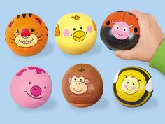 Little Hands Animal Balls have a built-in bell, rattle or squeaker for tons of sensory fun! #LakeshoreLearning