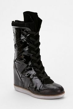 433a6cba3aca Jeffrey Campbell Arezzo Hidden Wedge High-Top Sneaker This is a all black  patent leather