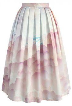 Balloon My Day Printed Midi Skirt