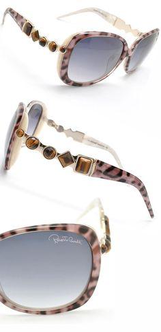 Roberto Cavalli Leopard Print Sunglasses With Rhinestone Detailing♥✤ | Keep Smiling | BeStayBeautiful