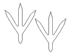 turkey feet pattern use the printable outline for crafts creating