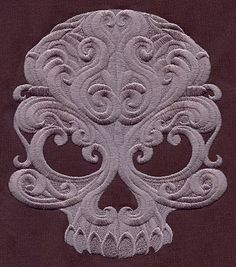 Baroque Punk Skull | Urban Threads: Unique and Awesome Embroidery Designs