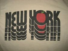 New York City T-shirt vintage 80s big apple tourist tee