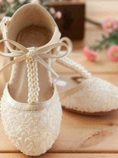Handmade Pink Lace Flower Girl Shoes Ivory Flat Pearl Bridesmaid Wedding Shoes in Clothes, Shoes & Accessories, Wedding & Formal Occasion, Bridal Shoes Flower Girl Shoes, Lace Flower Girls, Lace Flowers, Girls Shoes, Baby Shoes, Pink Flower Girl Dresses, Pink Wedding Shoes, Bridal Shoes, Wedding Pumps