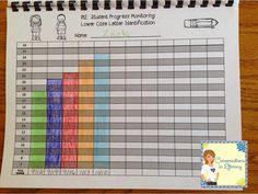 Organize data from progress monitoring with RtI Data Binders- Binders for students and a different one for teachers to graph weekly data