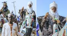 Korede Bello Goes Horse Riding With The Emir Of Kano's Son Adam Ashraf During Hawan Fanisau