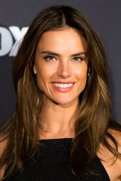 "Our *favorite* celeb styles for brunette hairspiration! We love this model-approved look--Alessandra Ambrosio's ""California Girl"" Streaks"