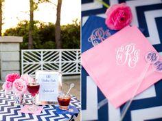 navy pink signature wedding cocktail