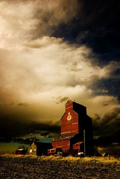 Days End, Odd Shaped Red Barn