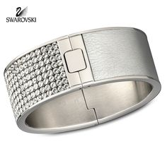 Swarovski Clear Crystal Jewelry INTERVALLE Bangle Wide M Medium #1036792
