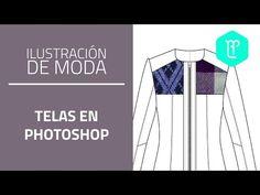 Cómo aplicar telas reales en photoshop: diseño de moda - YouTube