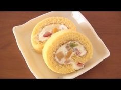 How to Make Japanese Roll Cake (Swiss Roll) Recipe トライフルロールケーキ レシピ - YouTube