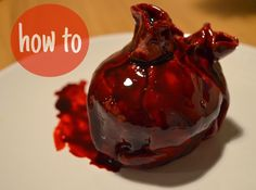 This week's halloween tutorial is totally inspired by (aka my very best attempt at recreating) this amazing bleeding heart cake by London...