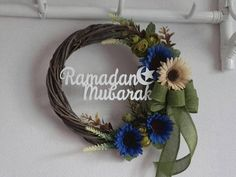 Check out this item in my Etsy shop https://www.etsy.com/listing/559675314/ramadan-mubarak-wreathramadan-mubarak