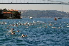 """""""2 Continents 1 Race""""  The Bosphorus Cross-continental Swimming,İstanbul Turkey"""