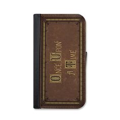 Once Upon A Time Fairytale Book Wallet Case. by littlebrickpress
