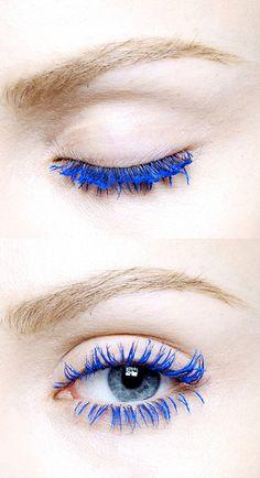 Blue Mascara, love it.