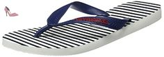 Havaianas Imprimee Tongs Homme Top Nautical White/Navy Blue-EU :45/46-BR:43/44 - Chaussures havaianas (*Partner-Link)